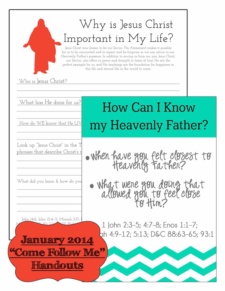 January Come Follow Me Printables from Little LDS Ideas