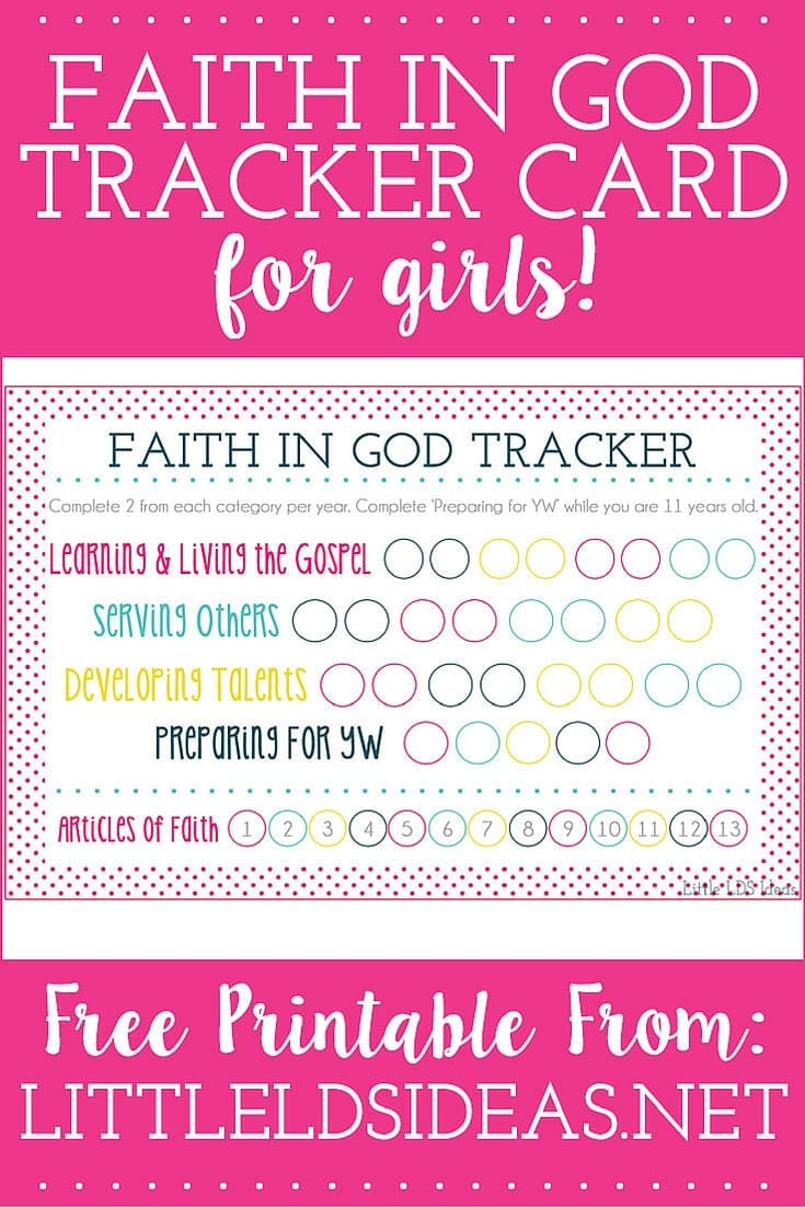 ... in God Tracker Cards for Girls from Little LDS IdeasLittle LDS Ideas