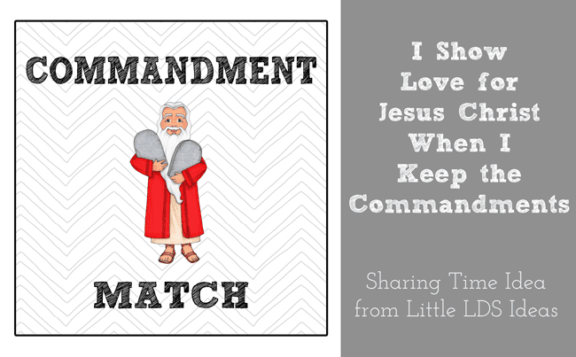 {Sharing Time} I Show Love For Jesus Christ When I Keep ...