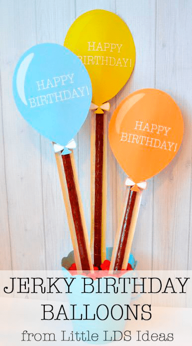Jerky Birthday Balloons from Little LDS IdeasLittle LDS Ideas