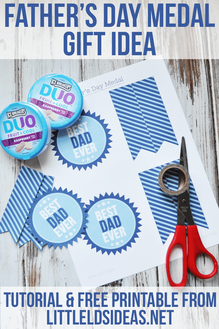 Father's Day Medal Gift Idea: Tutorial and Printable