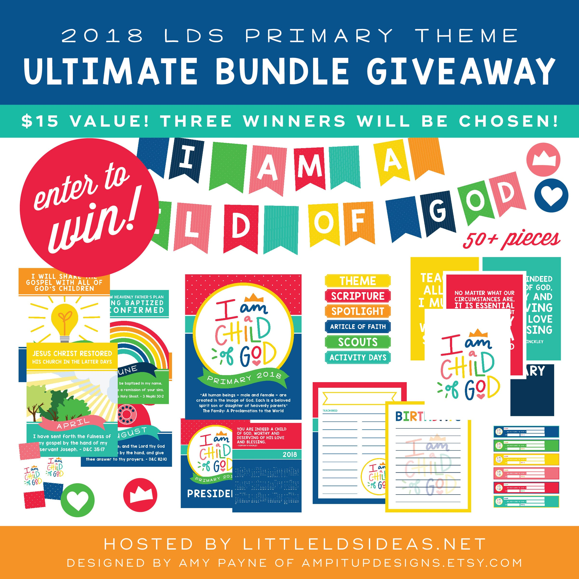 2018 LDS Primary Bundle Giveaway from Little LD Ideas and ...