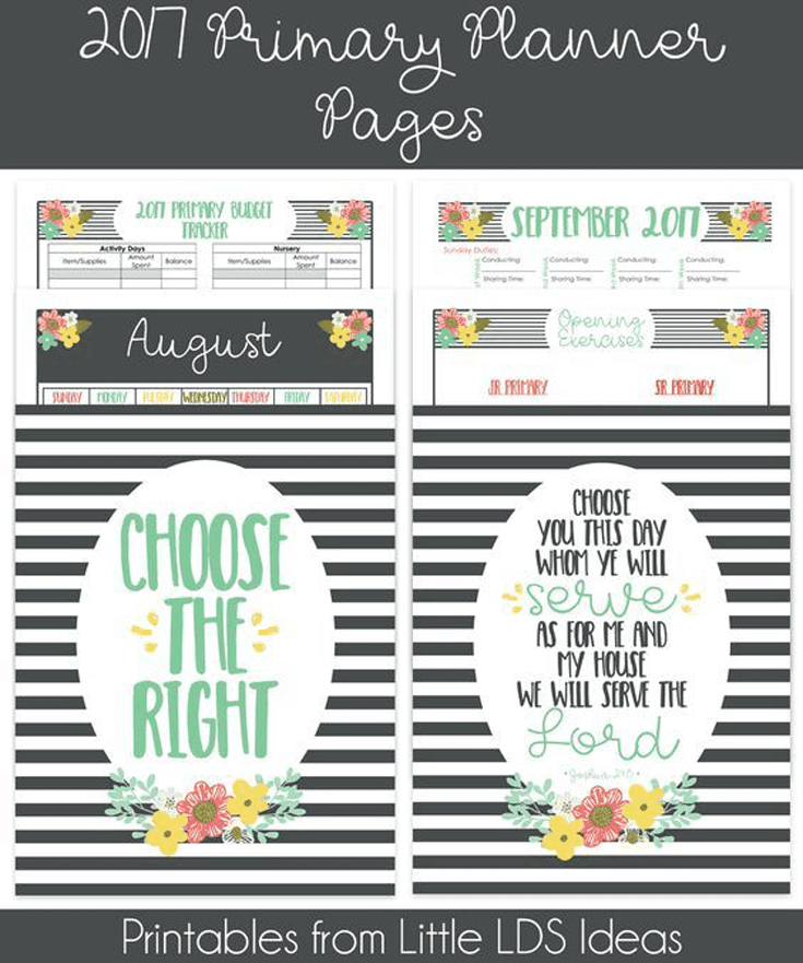 {Primary} 2017 Primary Presidency Planner Pages - Little ...