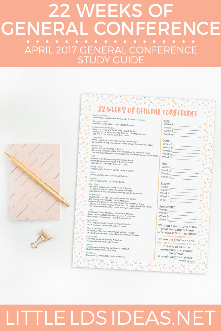 April 2017 General Conference Study Guide from Little LDS ...
