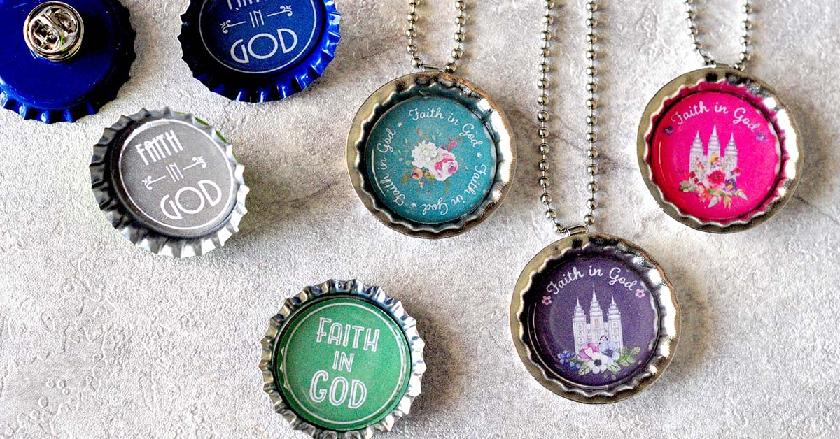... Faith in God Necklace & Tie Tack Circle PrintablesLittle LDS Ideas